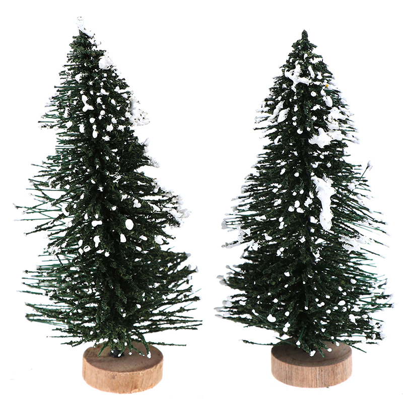 2pcs 1/12  Dollhouse Miniature Christmas Tree Christmas Decorations Supplies Small Pine Tree DIY Decoration Mini Christmas Tree