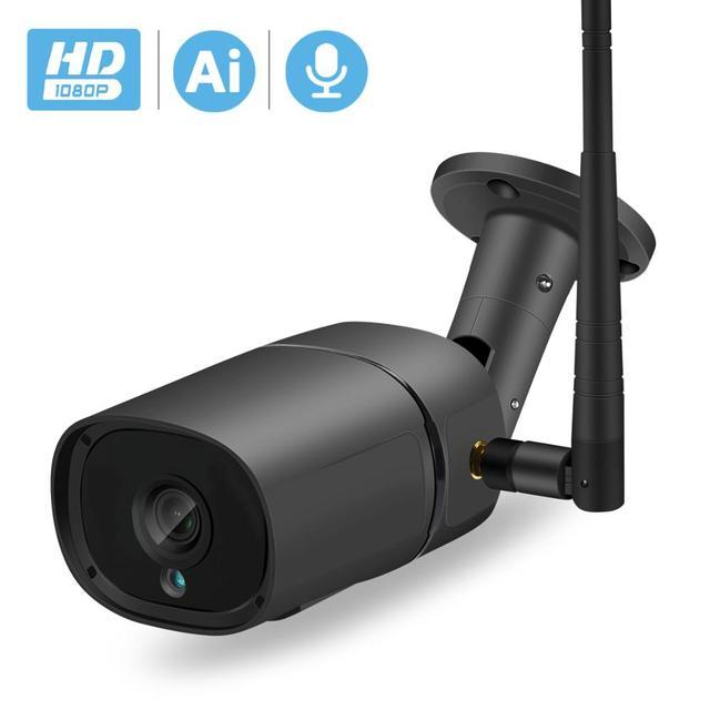 BESDER H.265 1080P WIFI IP Ai Phát Hiện TF Khe Cắm Ngoài Trời 2MP Camera Không Dây Âm Thanh Màu Tầm Nhìn Ban Đêm An Ninh camera quan sát