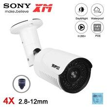 8MP 4K,5MP,3MP,2MP H.265 + 42 Uds Led infrarrojo 2,8 12mm 4X Zoom al aire libre IP66 Metal ONVIF detección facial Audio POE cámara CCTV IP