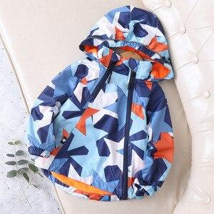 Image 2 - Fashion Waterproof Child Coat Warm Fleece Hooded Baby Boys Jackets Pentagram Print Children Outerwear Kids Outfits For 90 150cm