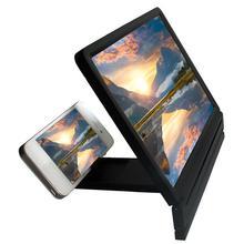 Мобильный телефон 3D экран Лупа защита глаз дисплей видео экран усилитель складной увеличительное расширитель стенд Прямая поставка