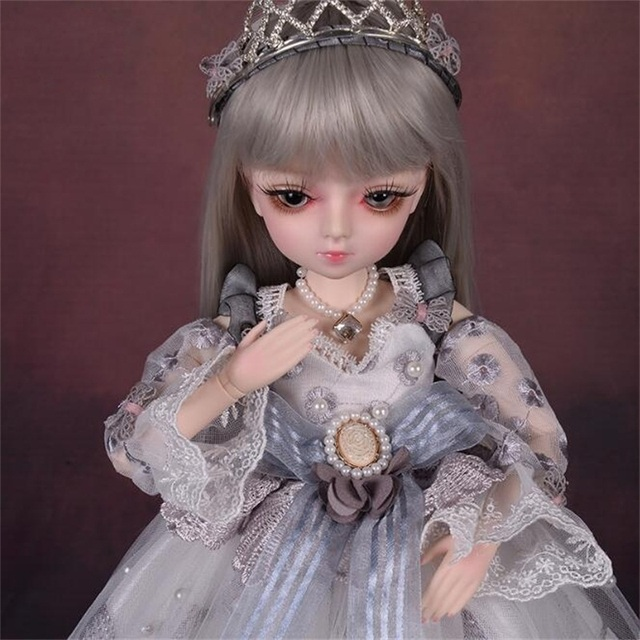18 Movable Joints BJD Doll 1/4 With Full Outfits Wigs Shoes official Makeup Ball Jointed Dolls collection kids toys Christmas gi 5