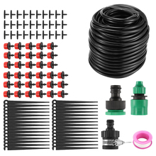 25m Plants Garden Watering System DIY Garden Hose Kits Adjustable Nozzles Garden Water Sprinkler Irrigation System