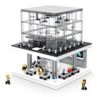 LED Light Creator Expert Series Street view Apple Store Building Blocks Sets Bricks Model Classic Phone Kids Toys Gifts