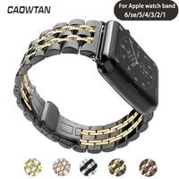Edelstahl Band für Apple Uhr Serie 6 se 5 4 38mm Smartwatch Ersatz Bands armband für iwatch 42 40mm handgelenk gurt