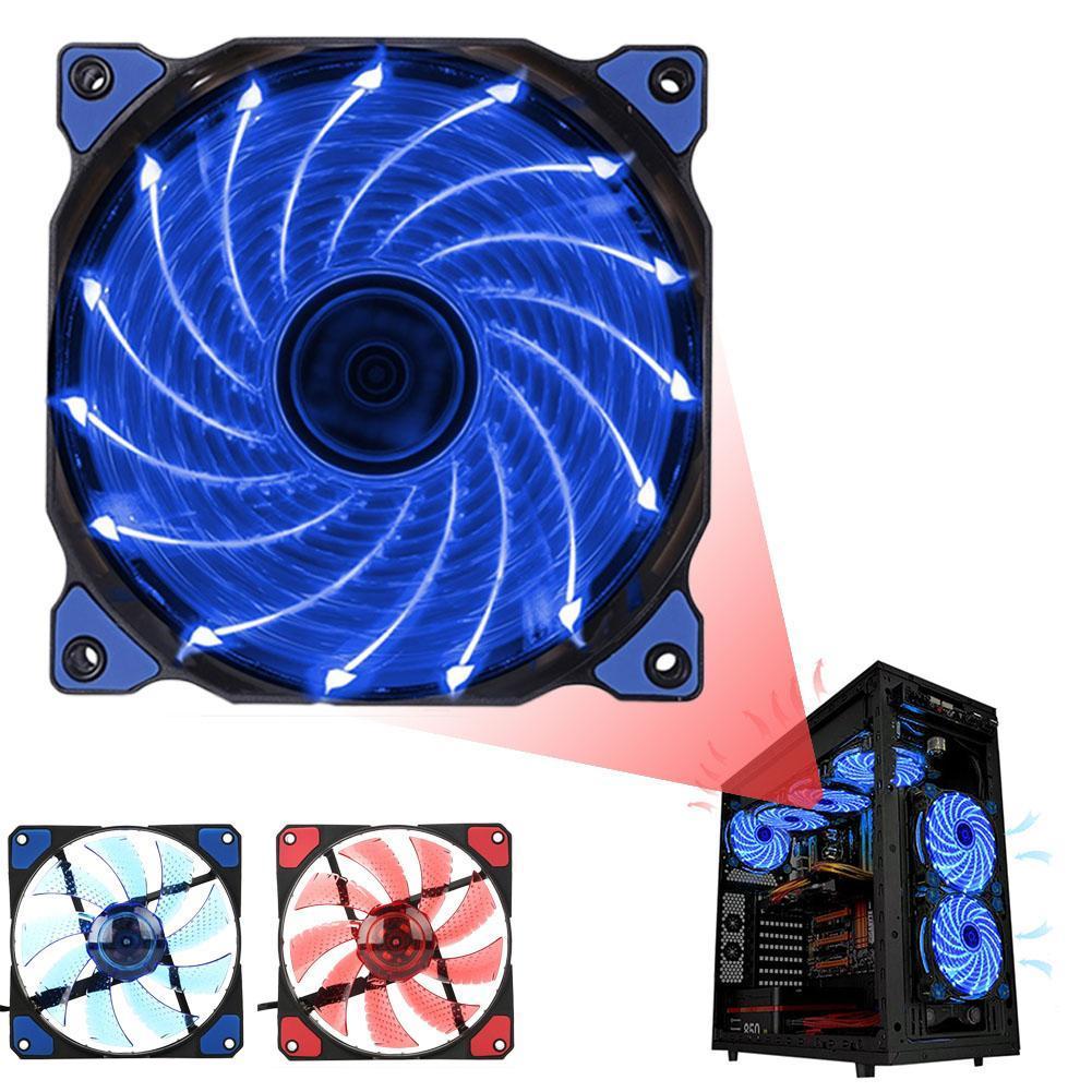 15 LED 120mm 3 4Pin PC Computer Case CPU Heatsink Quiet Cooler Cooling Fan Durable Cooling Fan PC Cooling Fan