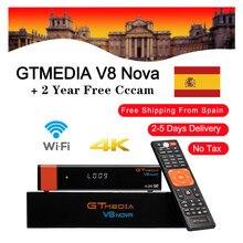 GTmedia receptor de TV satelital V8 Nova, con Wifi integrado, Cline Europa, España, DVB S2, H.265, medios GT V8 NOVA, 2 años