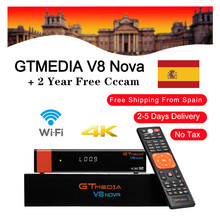 Hot sale GTmedia V8 Nova Satellite TV Receiver Built in Wifi 2 Years Europe Cline for Spain DVB S2 H.265 GT media V8 NOVA