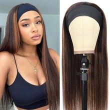 Парик U-образной формы, прямые человеческие волосы для женщин, натуральные парики, парик из человеческих волос, бразильские парики без повре...