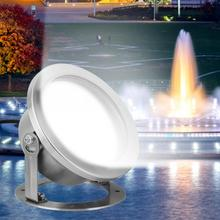 18W LED Underwater Light RGB Color Changing Swimming Pool Fountain Spotlight With Remote Control IP68 Waterproof цена 2017