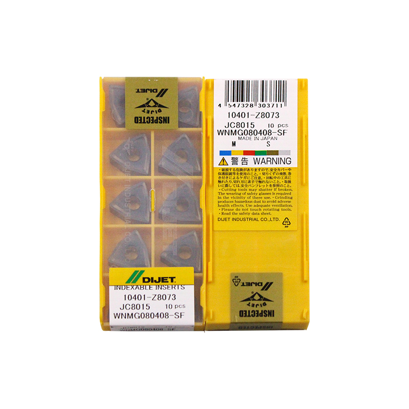 WNMG080408-SF JC8015 100% DIJET Original Carbide Insert With The Best Quality 10pcs/lot Free Shipping