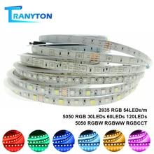 5M 2835 5050 LED Strip Light Waterproof DC12V RGBW RGBWW RGB LED Diode Tape Holiday Decoration Lamp 54LEDs 30LEDs 60LEDs 120LEDs