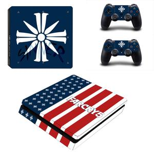 Image 1 - FARCRY Weit Cry 5 PS4 Dünne Aufkleber Play station 4 Haut Aufkleber Decals Für PlayStation 4 PS4 Slim Konsole & controller