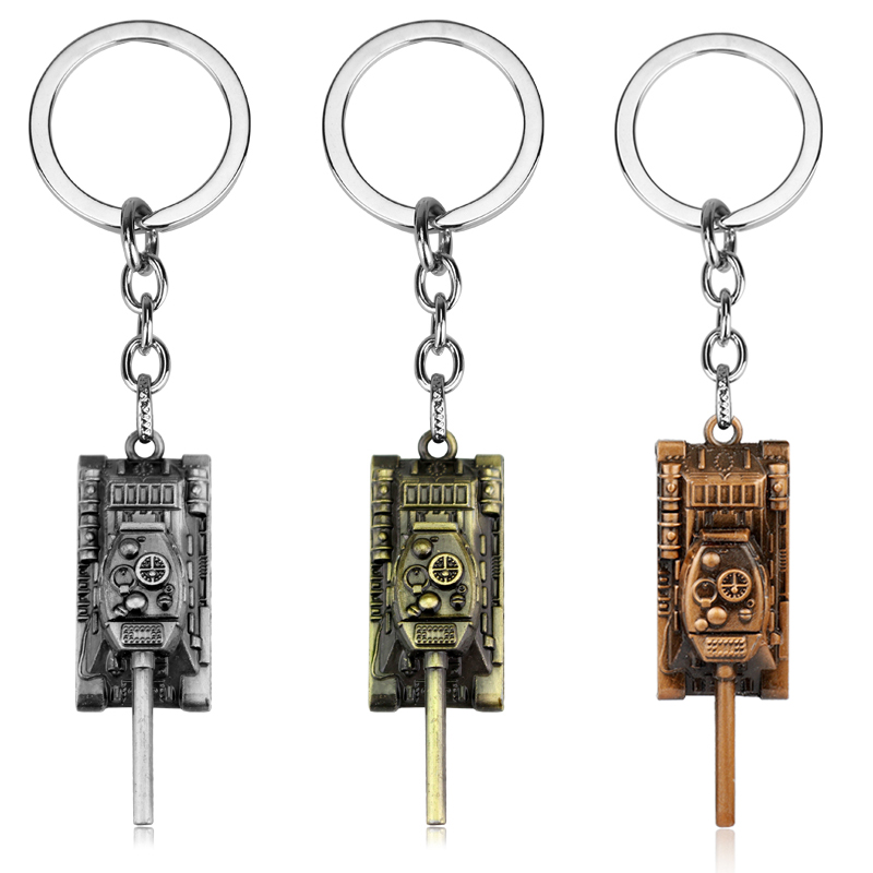 WOT Game keychain Jewelry World Tank Shield Pendant Key Chain Ring Car Accessories Bag Purse Key Holder Llaveros Souvenirs image