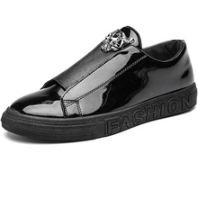 New Brand Leather Men Casual Shoes Trend Fashion Sneakers Non-slip Male Flats Shoes Rubber Mens Walking Shoes Man Designer Shoes fashion men loafer shoes slip on male casual flat walking shoes trend lightweight comfortable sneakers man flats