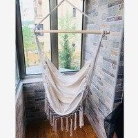 Nordic Style Hammock Outdoor Indoor Macrame Bed  Dormitory Bedroom Hanging For Child Adult Swinging Single Hammock White