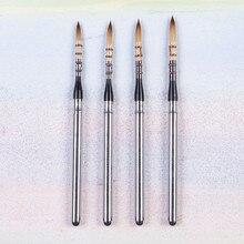 871 de alta qualidade cabelo sintético tampa inoxidável punho madeira pintura arte pincéis artístico para aquarela escova desenho