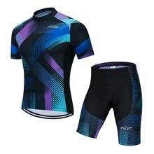 2020 teleyi ciclismo camisa da bicicleta shorts conjunto ropa ciclismo dos homens verão secagem rápida pro ciclismo maillot hombre calças roupa