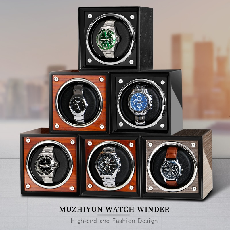 Watch-Winder Automatic for Single Wooden Box Storage Luxury