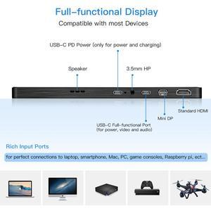 """Image 5 - Eyoyo EM13Q 13.3 """"schermo LCD portatile per Monitor da gioco HDMI con VESA UHD 3840X2160 4K IPS USB tipo C per PC Phone PS4 Xbox Switch"""