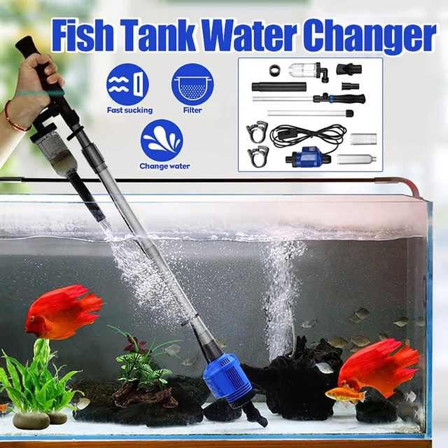 Aquarium Gravel Cleaner Automatic Water Changer Sludge Extractor Sand Washer Filter Pump for Fish Tank  1