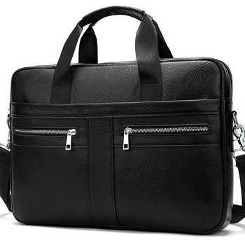 WESTAL men\'s briefcases men\'s bags genuine leather lawyer/office bag for men laptop bag leather porte document briefcase male