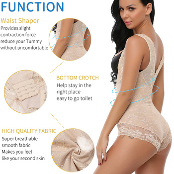 Miss Moly Women Full Body Shaper Waist Reducer Trainer Tummy Slimming Control Panty Butt Lifter Briefs Push Up Shapewear Corset 3