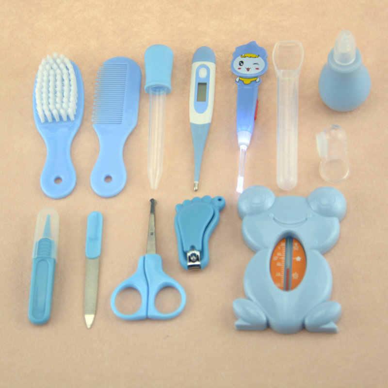 13Pcs เด็ก Health care ชุดเด็กชุดความปลอดภัยเล็บเล็บ Clippers หวี Emery Hairbrush เครื่องวัดอุณหภูมิ Baby Care เครื่องมือ