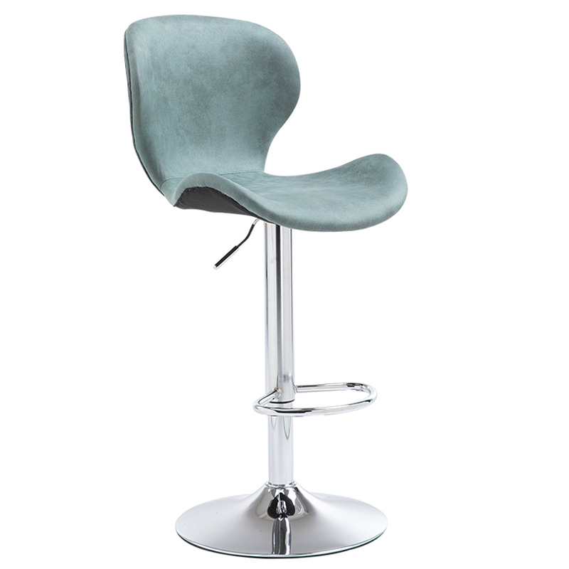 Bar Stool Home High Solid Wood Backrest Bar  Lift  Chair Front Desk