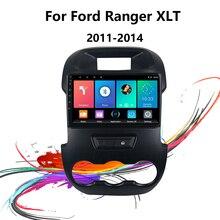 Eastereggs רכב רדיו 9 אינץ 2 דין אנדרואיד Autoaudio עבור פורד ריינג ר XLT 2011 2014 ניווט GPS FM Bluetooth מולטימדיה נגן