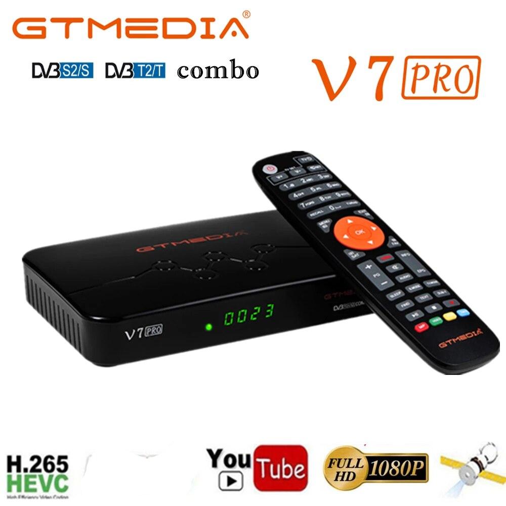 Испания GTMEDIA V7 PRO спутниковый ТВ приемник DVB-S/S2/S2X + T/T2 Поддержка CA отсеком для карт и мульти-комнаты YouTube с Европы Доставка