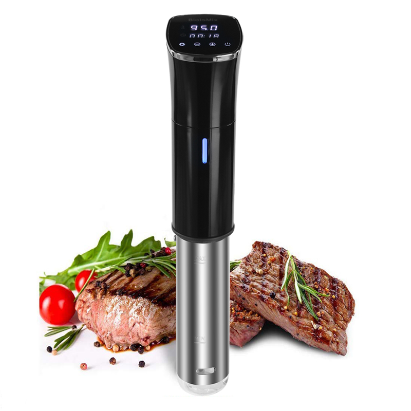 Biolomix 2nd Generation IPX7 Waterproof Sous Vide 1800W Powerful Vacuum Slow Cooker With LCD Digital Accurate Control