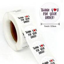 Спасибо за ваш заказ, наклейка 500 шт./рулон, Подарочная наклейка ручной работы s, запеченная наклейка с любовью, украшение, этикетка для скрап...