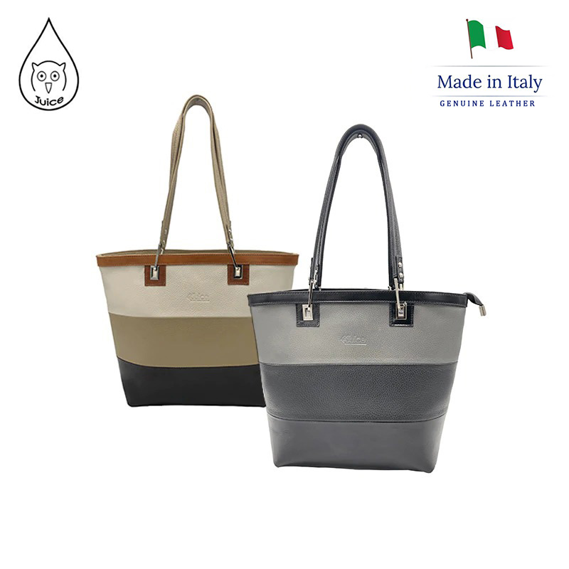 JUICE ,made In Italy, Genuine Leather, Women Bag, Oversize Shoulder Bags 112159