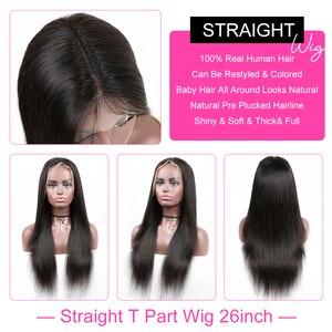 Image 4 - Прямые парики YYong на сетке 1x6 T, парики на сетке спереди со швейцарскими невидимыми узлами, HD парик из человеческих волос на прозрачной сетке спереди