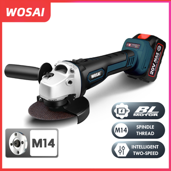 цена на WOSAI M14 Cordless Angle Grinder 20V Lithium-Ion Grinding Machine Cutting Electric Angle Grinder Grinding Brushless Power Tool