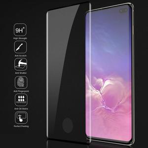 Image 3 - 10 adet/grup tam kapak temperli cam Samsung galaxy S10 artı S10E S9 S8 not 8 9 10 ekran koruyucu parmak izi kilidini film