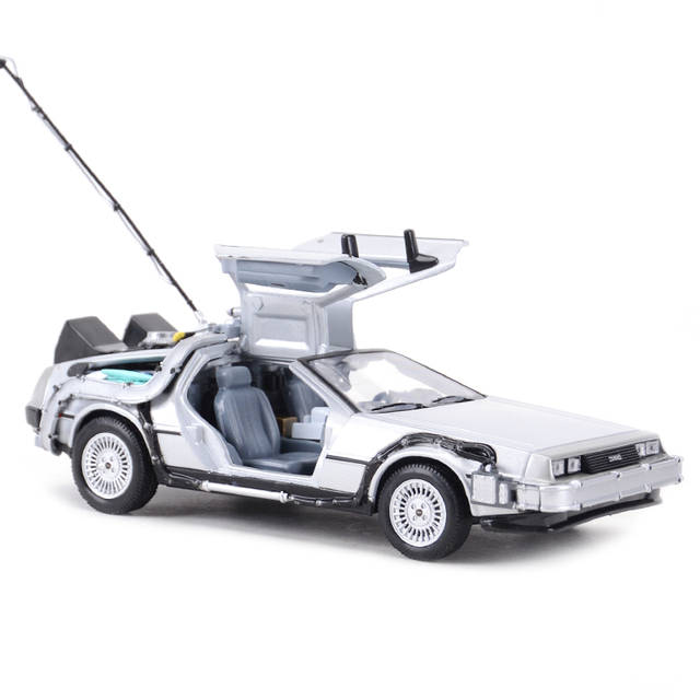 Welly 1:24 DMC-12 DeLorean Time Machine Back to the Future Car Static Die Cast Vehicles Collectible Model Car Toys 4