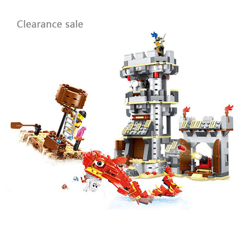 Wange 54041 Pirates Brick Toys Kraken Attackin Pirates Fortress Model Building Blocks Education Toys For kids gifts legoingly
