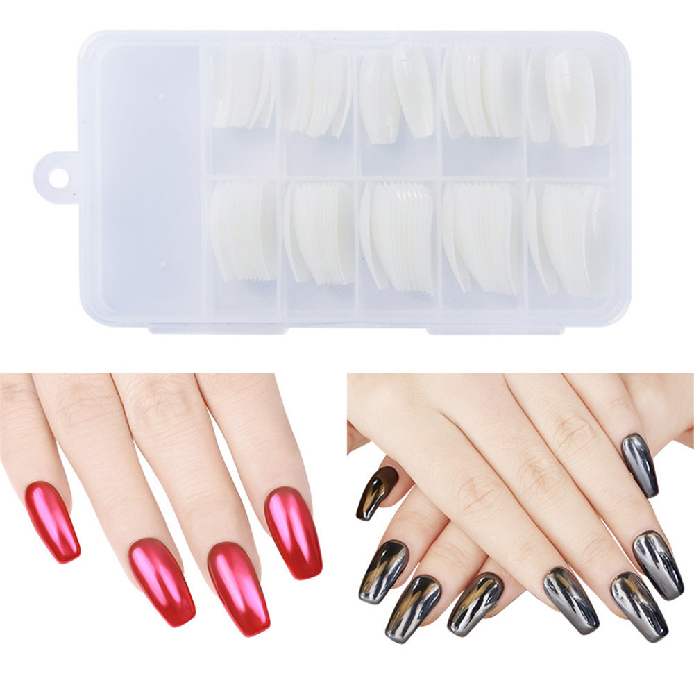 Manicure Implement 100 Pieces Transparent Natural Boxed Ban Tie Ballet Nail Tip Ballet Coffin Fake Nails Nail Sticker