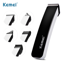Kemei Hair Clipper 5 In1 Multifunctionl Professional Electric Beard Trimmer Rechargeable Ear and Nose Hair Trimmer Clippers 43D