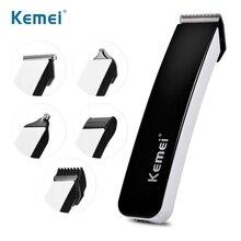Машинка для стрижки волос Kemei, профессиональный электрический триммер 5 в 1 для бороды, Аккумуляторный триммер для ушей и носа, 43D