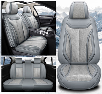 Leather car seat cover set universal for ford focus c-max courier ecosport edge escape explorer fiesta ranger car accessories