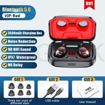TWS Bluetooth 5.0 Earphones 3500mAh Charging Box Wireless Headphone 9D Stereo Sports Waterproof Earbuds Headsets With Microphone 12