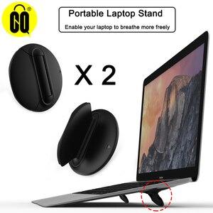 Image 1 - Uniwersalny uchwyt na laptopa czarny składany przenośny stojak na laptopa, wsparcie 7 17 calowy Notebook, dla MacBook Air Pro Notebook Cooler Stand