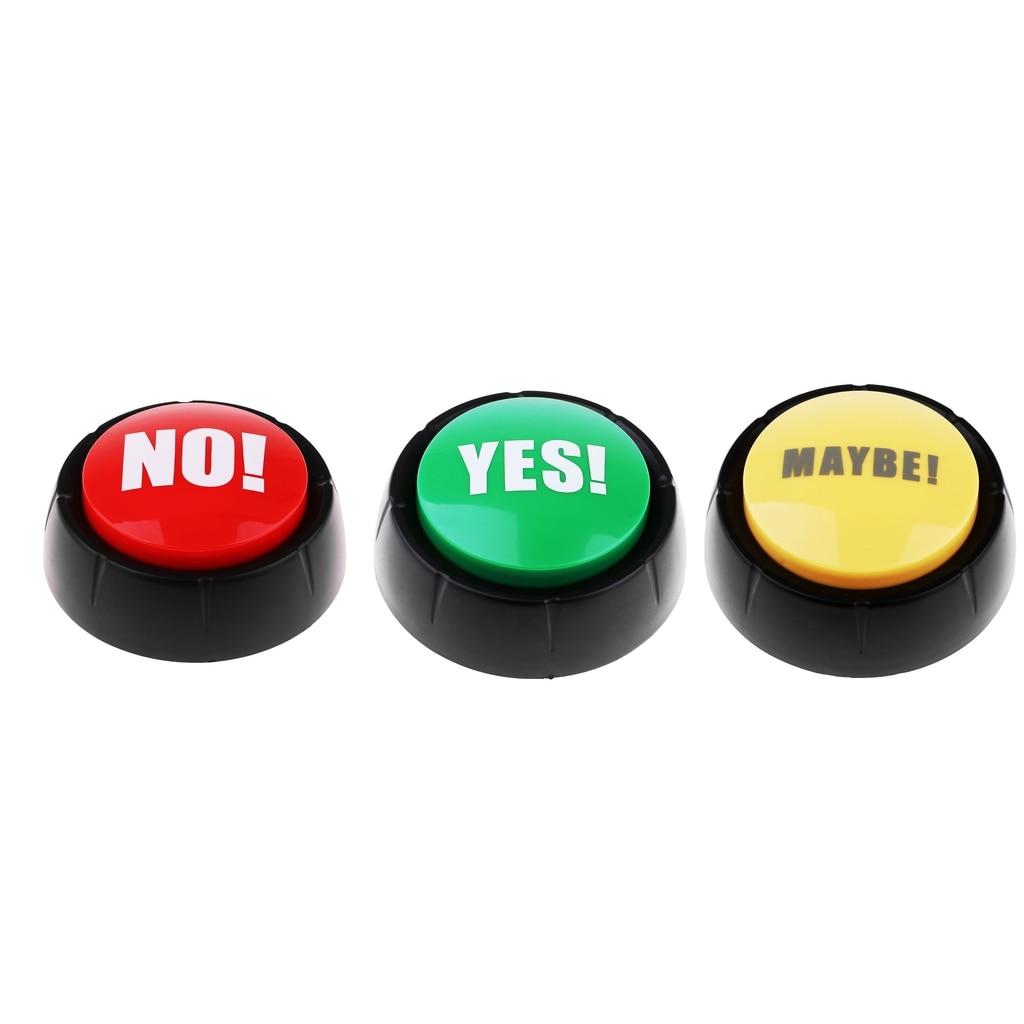 3x Gag звуковые кнопки шуточные вечерние мероприятия инструмент для ответа на звонок для детей
