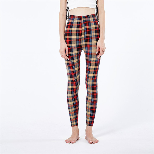 Plaid Check Leggings 6