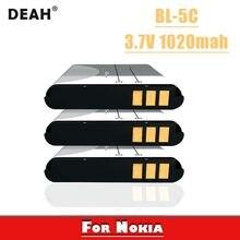 Batteries de remplacement pour Nokia 3.7 1020 1100 1110 1112 1208 1600 2255 2270 2280, 3 pièces, 2300 v, 2600 mAh, BL 5C