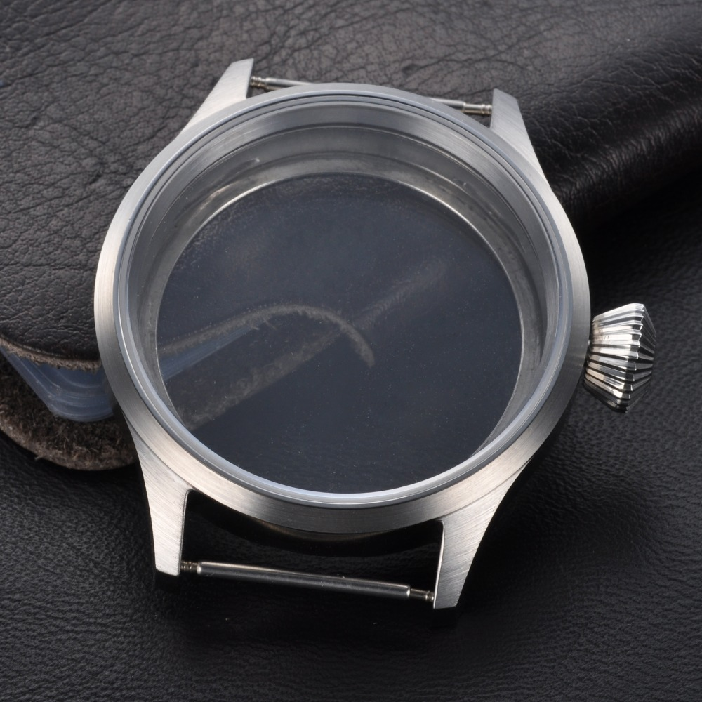 <font><b>43mm</b></font> Artificial Synthesis Sapphire Glass <font><b>Case</b></font> Fit 6497/6498,Fit Two Size Tihckness Dial image