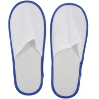 20 pairs of White Towelling Hotel Disposable Slippers Terry Spa Guest Shoes blue